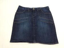 Tommy Hilfiger Womens 10 Denim Blue Jean Mini Skirt Stretch Back Slit
