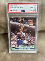 SHAQUILLE O'NEAL⚡️1992-93 Fleer Ultra Rookie #328 PSA 10 GEM MINT RC🔥Magic HOT