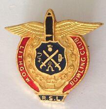 Lithgow RSL Bowling Club Badge Pin Vintage Lawn Bowls (L33)