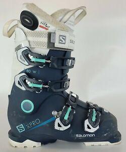 Used $550 Women's Salomon S/XPR 80 W Custom Blue Ski Boots Ladies Wide Width