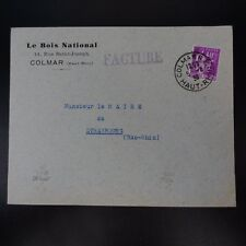 ALSACE LORRAINE LETTERA COVER COLMAR CAD R.P. 1936