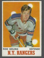 1970-71 O-Pee-Chee New York Rangers Hockey Card #184 Rod Seiling