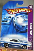 2007 Hot Wheels #58 Revealers 2/4 1969 DODGE CHARGER White w/5 Sp International