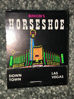 Vintage BINION'S HORSESHOE CASINO Book Of Matches COLLECTIBLE Downtown LAS VEGAS