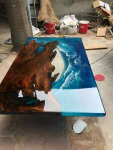 Walnut Table Epoxy Furniture Blue River Decorative Dining,Living Garden Wooden