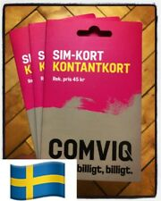 100 pcs Comviq (Tele2) Swedish Sim Card NEW