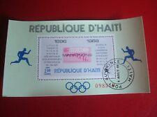 HAITI - 1969 OLYMPIC MARATHONS 2 - UNMOUNTED USED SOUVENIR MINIATURE SHEET