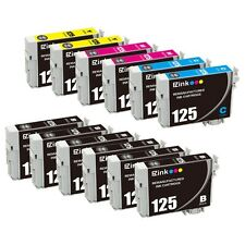 12P for Black & Color 125 Ink Cartridge for Epson Stylus NX230 NX420 NX530 NX625
