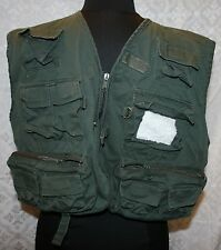 White River Fly Shop Fishing Vest Sz M Olive Green Multi Pocket Hunting Outdoor