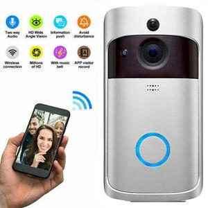 Two-Way Door Bell WiFi Wireless Video Doorbell Talk Smart Security HD Camera A
