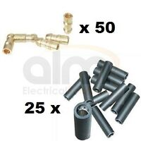 4.7mm Brass Bullet Connectors & Sockets - 75 Pieces Lucas Style Wiring Terminals