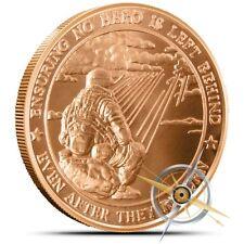 Love Your Veterans No Hero Left Behind 1 Oz .999 Copper Round US Bullion Coin