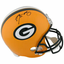 AARON RODGERS SIGNED PACKERS REPLICA HELMET COA FANATICS AUTOGRAPH GREEN BAY