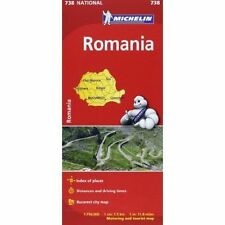 ROMANIA MAP - MICHELIN 738 - NEW - CURRENT EDITION