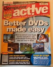 Computer Active Magazine 2010 Laptop battery life email signature DVDs Workshop