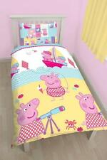NEW PEPPA PIG NAUTICAL SINGLE DUVET QUILT COVER BEDDING SET CHILDRENS BEDROOM
