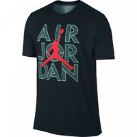 Men's Nike Jordan JumpMan Logo Short Sleeve Dri Fit T-shirt 789619 011 Turquois