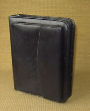 Classic Franklin Coveyquest Black Leather 15 Rings Zip Plannerbinder Purse