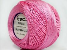 Lot of 6 Skeins Ice Yarns MIMOSA (100% Microfiber) Knitting Wool Pink