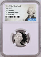 2020 FIRST W MINT PROOF NICKEL, NGC PF70 UC, FIRST RELEASES, JEFFERSON LABEL