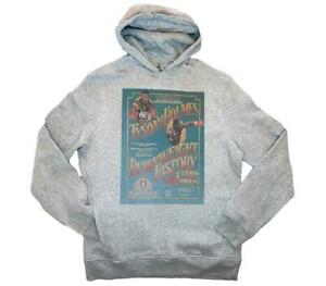 Mike Tyson Vs Larry Holmes fight poster Grey Hoodie Size S-2XL boxing iron mma