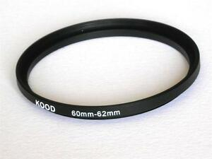 STEP UP ADAPTER 60MM-62MM STEPPING RING 60MM TO 62MM 60-62 FILTER ADAPTER