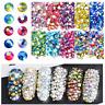 10 Style Mix Size Nail Art Crystal Flat Back Colorful AB Diamonds 3d Nail Art