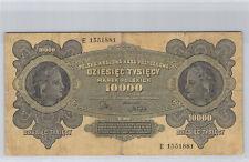 Pologne 10 000 Marek 11.3.1922 n° E 1551881 Pick 32