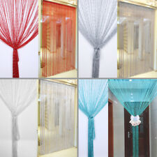 Silver Silk String Door/  Window/ Living Room / Kids Room / Kitchen Curtain