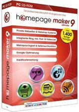 Homepage Maker 9 ULTIMATE - PC Software NEU + OVP