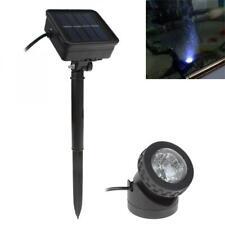 Pool Pond Garden Outdoor Spot Light Lamp Waterproof Solar Powered LED Spotlight