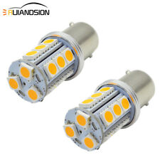 2pcs 1156 BA15S 5050 18 LED Yellow Turn Signal Light Bulb 10V-30V Non-polarity