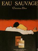 PUBLICITÉ DE PRESSE 1979 EAU SAUVAGE DE CHRISTIAN DIOR - GRUAU