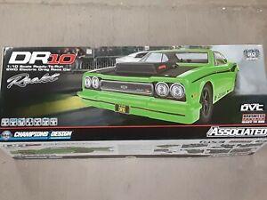 Team Associated DR10 RTR Brushless Drag Race Car Green 70026 Brand New!!