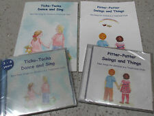 Ticka-Tocka Dance & Sing / Pitter-Patter Swing & Things 2 books/2 CD's, children