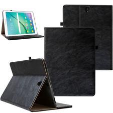 Leder Cover Samsung Galaxy Tab S2 Tablet Schutzhülle Case Tasche schwarz