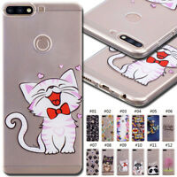 For Huawei Honor 7C/Y7(2018) Soft Silicone Case Cover Cute Skin TPU Clear Back