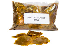 Golden Shellac Flakes 250gr For Antique Restoration & French Polish