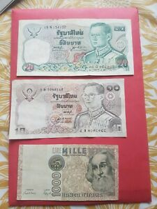 3x Old Foreign Bank Notes used
