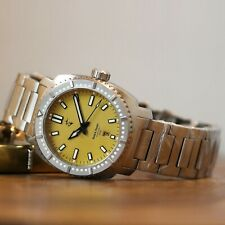 Cobra Calibre Blood 300M Miyota 9015 Automatic Stainless Steel Dive Watch Yellow