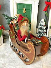 New ListingByers Choice The Carolers 1991 Dyedt Moroz-In Wooden Sleigh With Sleigh Bells