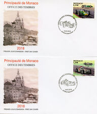 Monaco 2018 FDC Legendary Race Cars Lotus Mercedes Benz 2v on 2 Covers Stamps