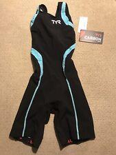 Womans Racing Tyr Carbon Aero Back Short Swim Suit Xs New $250