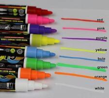 8 X Liquid Chalk Blackboard Marker Writing Board Glass 3mm Bullet Tip Window Pen