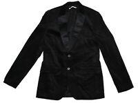 Calvin Klein Velvet Slim Fit 2-Button Sport Coat Blazer Black Small NWT $228