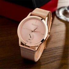2017 Fashion Rose Gold Unisex Women Watch Bracelet Stainless Steel WristWatch 1C