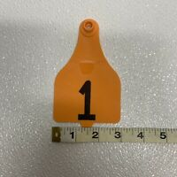 """DuFlex XLarge Complete Ear Tag Blank White 4-5//8"""" high x 3"""" wide 25ct"""