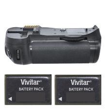 Vivitar MB-D14 Power Battery Grip for Nikon D600 D610 + 2 ENEL15A Batteries New!