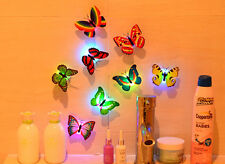 Romantic Colorful Changing Butterfly LED Night Light Lamp  Room Desk Wall Decor