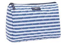 SCOUT Packin' Heat Makeup Bag Large Blue & White Stripe Pattern Stripe Right NWT
